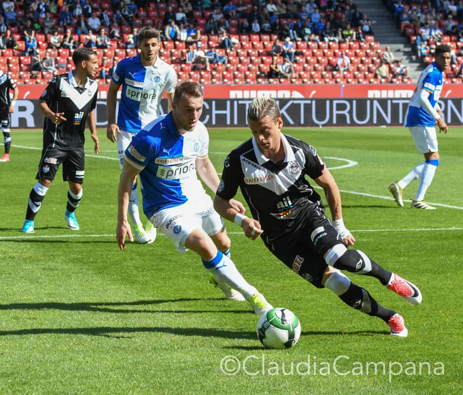 Alioski in action during the game; photo: FC Lugano