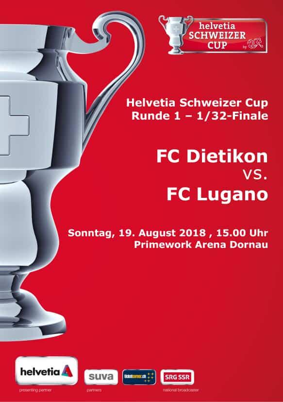Coppa: Lugano in campo domenica 18 agosto