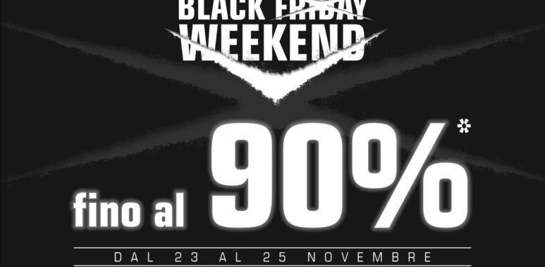Dal 23 al 25 novembre super offerte per il Black Friday!