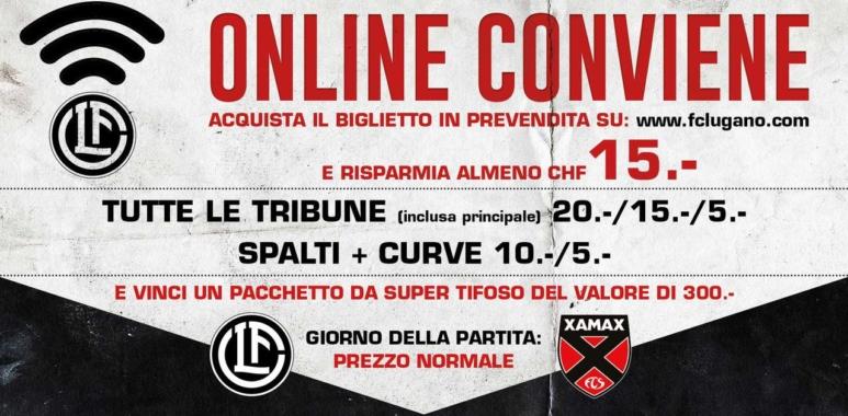 Lugano - Xamax, acquista il biglietto in prevendita e risparmia!