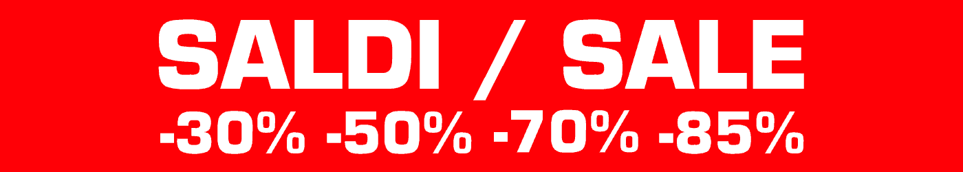 Saldi fino al 90% nel nostro online shop