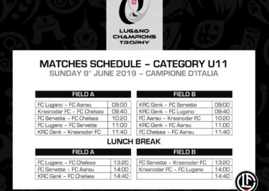 Matches Program | Trofeo Lugano Champions Trophy 2019 3