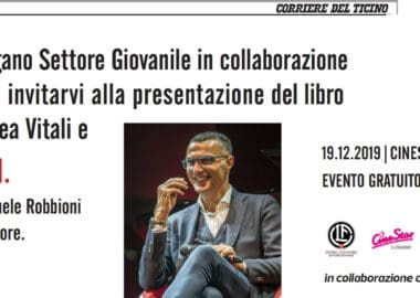 """""""Bella zio"""" Giovedì 19.12.2019 vi invita alla presentazione del libro di Beppe Bergomi e Andrea Vitali"""