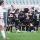 Le giocatrici bianconere festeggiano il successo sul Basilea